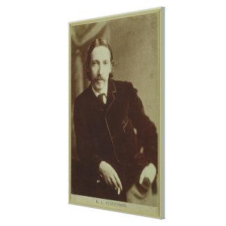 Portrait of Robert Louis Balfour Stevenson (1850-9 Canvas Print