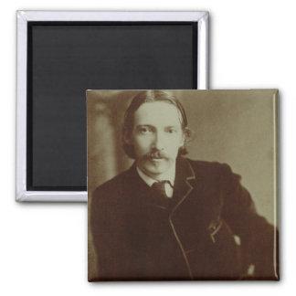 Portrait of Robert Louis Balfour Stevenson (1850-9 Square Magnet