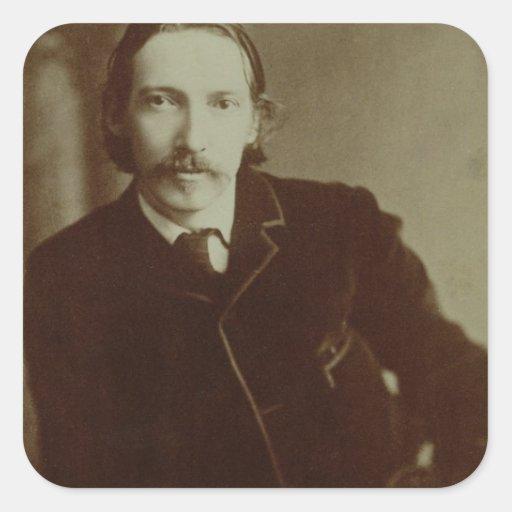 Portrait of Robert Louis Balfour Stevenson (1850-9 Square Stickers