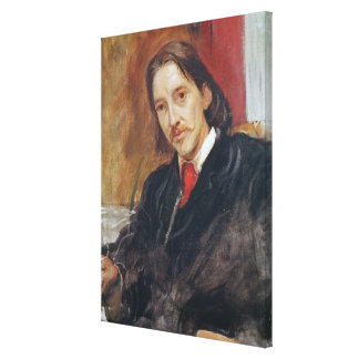 Portrait of Robert Louis Stevenson  1886 Canvas Print