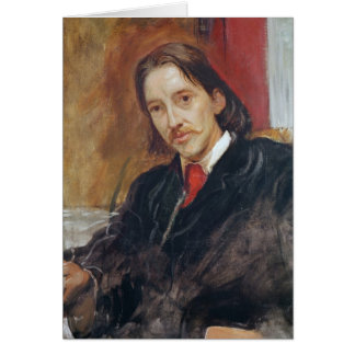 Portrait of Robert Louis Stevenson  1886 Card