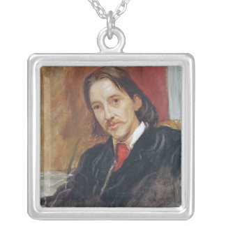 Portrait of Robert Louis Stevenson  1886 Silver Plated Necklace