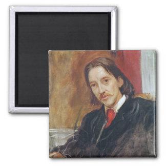 Portrait of Robert Louis Stevenson  1886 Square Magnet