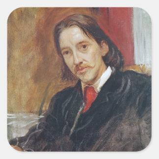 Portrait of Robert Louis Stevenson  1886 Square Sticker