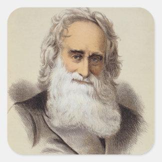 Portrait of Robert Moffat (1795-1883) (colour lith Square Sticker
