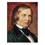 Portrait of Robert Schumann Postcard