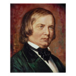 Portrait of Robert Schumann Poster