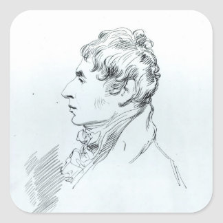 Portrait of Robert Southey Square Sticker