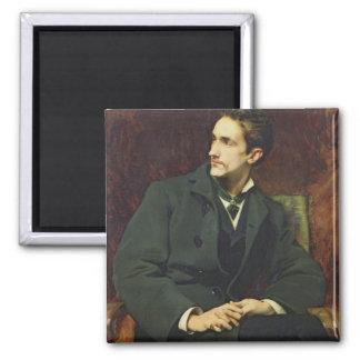 Portrait of Robert Square Magnet