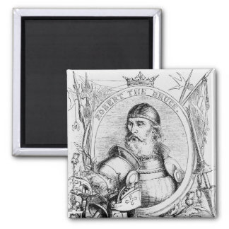 Portrait of Robert the Bruce Square Magnet