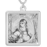 Portrait of Robert the Bruce Square Pendant Necklace