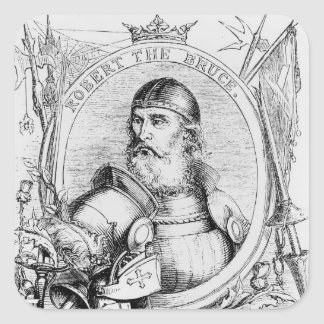 Portrait of Robert the Bruce Square Sticker