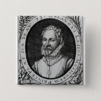 Portrait of Roland de Lassus 15 Cm Square Badge