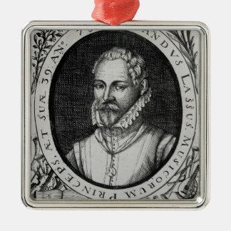 Portrait of Roland de Lassus Silver-Colored Square Decoration