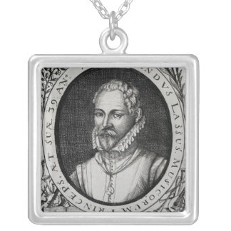 Portrait of Roland de Lassus Silver Plated Necklace