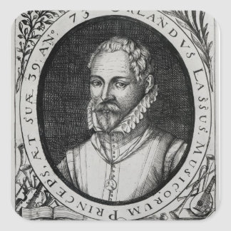 Portrait of Roland de Lassus Square Sticker