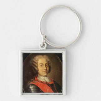 Portrait of Roland Michel Barrin Key Ring