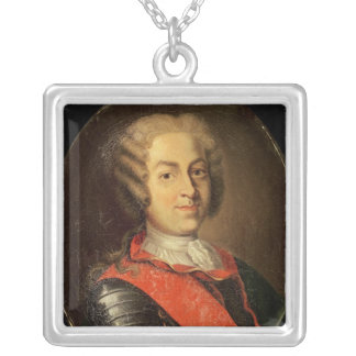 Portrait of Roland Michel Barrin Silver Plated Necklace