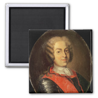 Portrait of Roland Michel Barrin Square Magnet
