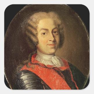Portrait of Roland Michel Barrin Square Sticker