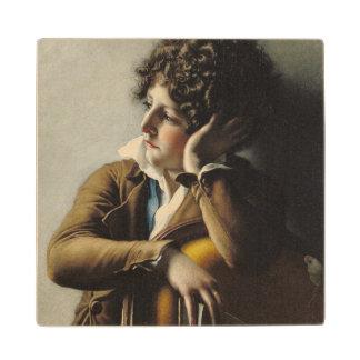Portrait of Romainville-Trioson, 1800 Maple Wood Coaster