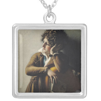 Portrait of Romainville-Trioson, 1800 Silver Plated Necklace