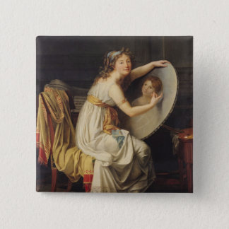 Portrait of Rose Adelaide Ducreux 15 Cm Square Badge