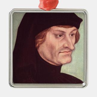 Portrait of Rudolf Agricola Silver-Colored Square Decoration