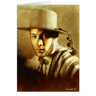 Portrait of Rudolph Valentino Card
