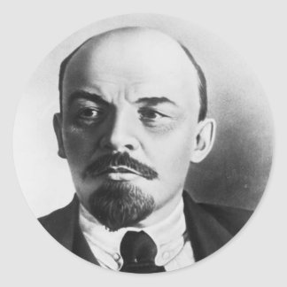 Portrait of Russian Vladimir Ilyich Lenin Classic Round Sticker