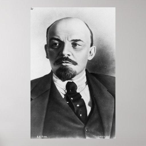 Portrait of Russian Vladimir Ilyich Lenin Posters