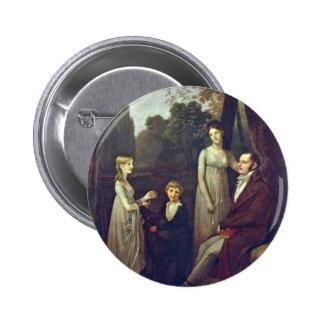 Portrait Of Rutger Jan Schimmelpenninck And His Fa 6 Cm Round Badge