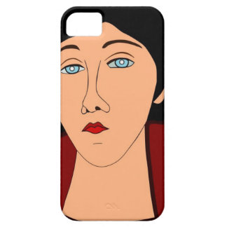 Portrait of sad woman iPhone 5 cases