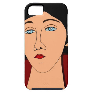 Portrait of sad woman case for the iPhone 5