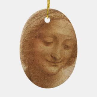 Portrait of Saint Anne by Leonardo da Vinci Ceramic Oval Decoration