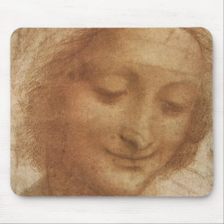 Portrait of Saint Anne by Leonardo da Vinci Mouse Pad