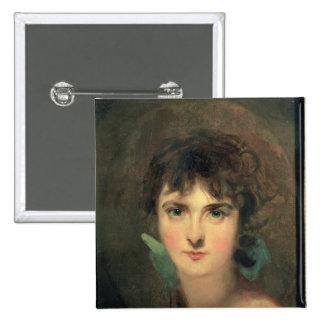 Portrait of Sally Siddons 15 Cm Square Badge
