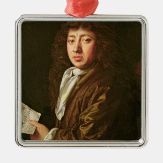 Portrait of Samuel Pepys  1666 Christmas Ornament