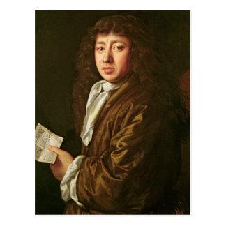 Portrait of Samuel Pepys  1666 Postcard