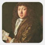 Portrait of Samuel Pepys  1666 Square Sticker