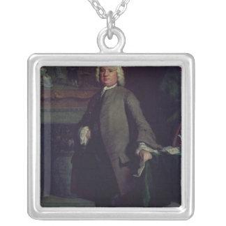 Portrait of Samuel Richardson  1750 Silver Plated Necklace