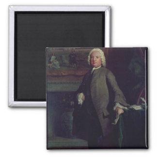 Portrait of Samuel Richardson  1750 Square Magnet