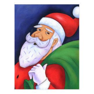 Portrait of Santa Claus Postcard