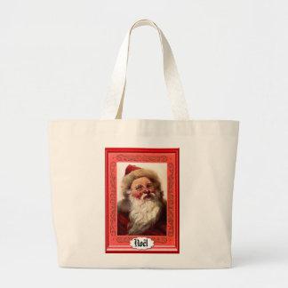 Portrait of Santa - Xmas Sack Jumbo Tote Bag