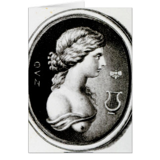 Portrait of Sappho Card