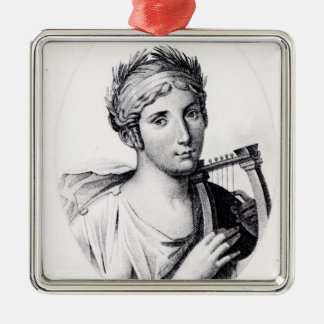 Portrait of Sappho Christmas Ornament