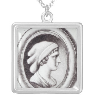 Portrait of Sappho Silver Plated Necklace