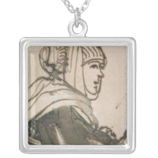 Portrait of Saskia, 1634 Silver Plated Necklace