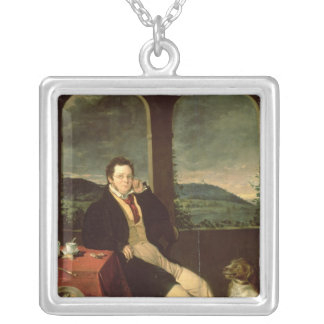 Portrait of Schubert Silver Plated Necklace