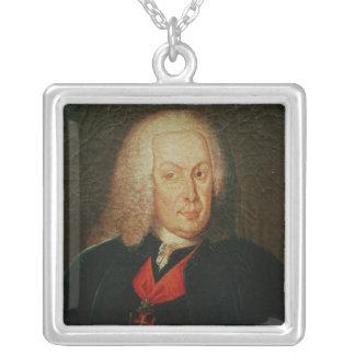 Portrait of Sebasiao Jose de Carvalho Silver Plated Necklace